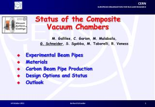 Status of the Composite Vacuum Chambers