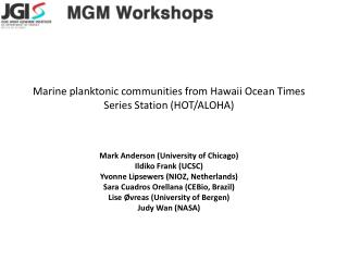 Marine planktonic communities from Hawaii Ocean Times Series Station (HOT/ALOHA )