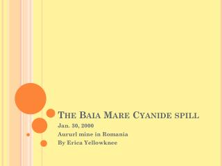 The Baia Mare Cyanide spill
