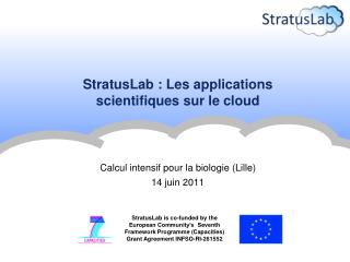 StratusLab  : Les applications  scientifiques sur le  cloud