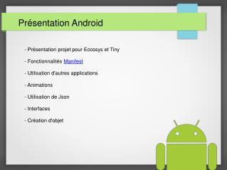 Présentation Android