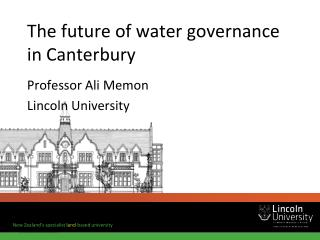 The future of water governance in Canterbury