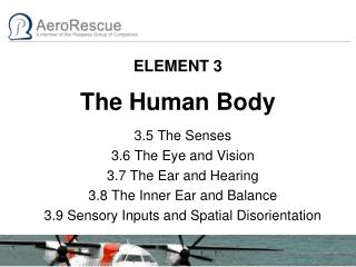 ELEMENT 3 The Human Body