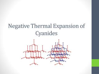 Negative Thermal Expansion of Cyanides