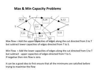 Max & Min Capacity Problems