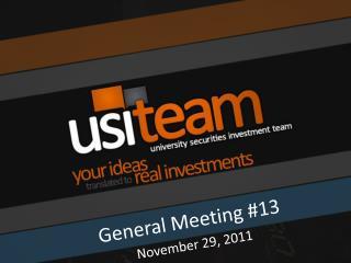 General Meeting #13
