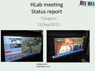HLab  meeting Status report