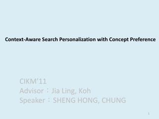 Context-Aware Search Personalization with Concept Preference