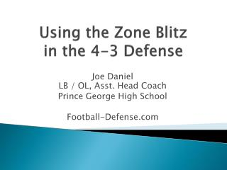 Using the Zone Blitz  in the 4-3 Defense