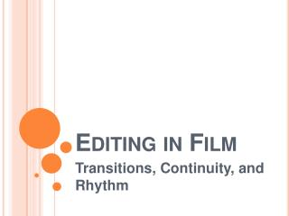 Editing in Film