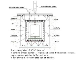 The cutaway view of RENO detector.