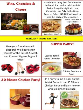 FEBRUARY THEME PARTIES!