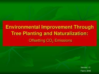 Environmental Improvement Through Tree Planting and Naturalization:   Offsetting CO2 Emissions