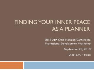 Finding Your Inner Peace as a Planner