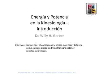 Energía y Potencia en la Kinesiología – Introducción