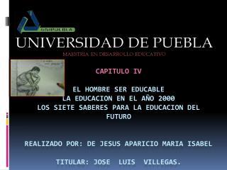 EL HOMBRE SER EDUCABLE
