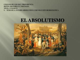 EL ABSOLUTISMO