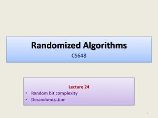 Randomized Algorithms CS648