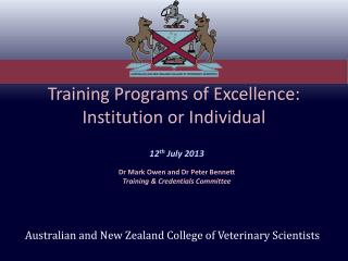 Training Programs of Excellence: Institution or Individual