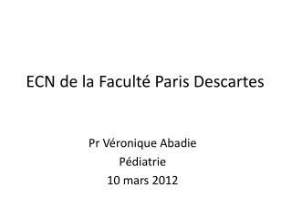 ECN de la Faculté Paris Descartes