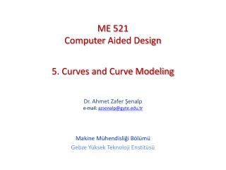 5. Curves and Curve Modeling