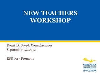 NEW TEACHERS WORKSHOP