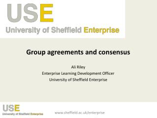 Group agreements and consensus Ali Riley Enterprise Learning Development Officer