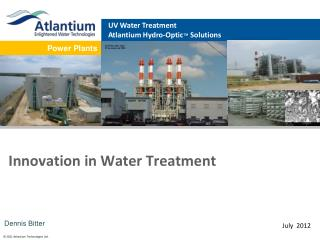 Innovation in Water Treatment