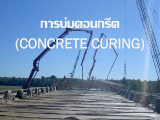 การบ่มคอนกรีต  (CONCRETE CURING)
