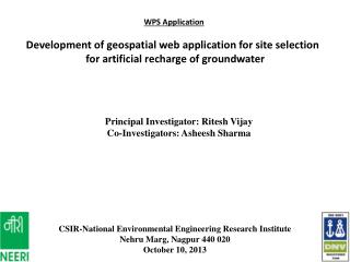 WPS Application Development of geospatial web application for site selection