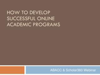 ABACC & Scholar360 Webinar