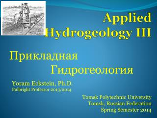Applied Hydrogeology III