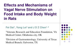 Effects and Mechanisms of Vagal Nerve Stimulation on Food Intake and Body Weight in Rats