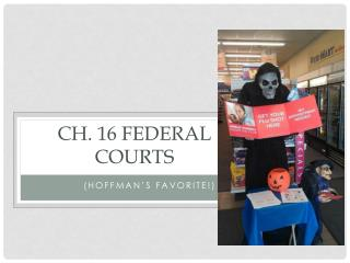 Ch. 16 Federal courts