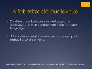 Alfabetització audiovisual