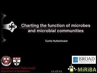Charting  the function of  microbes and  microbial  communities