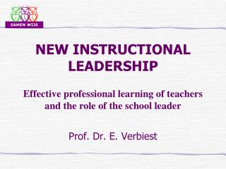 NEW INSTRUCTIONAL LEADERSHIP
