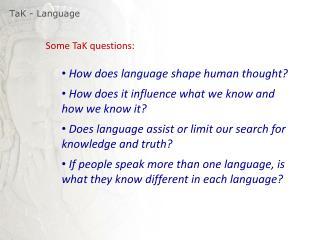 TaK  - Language