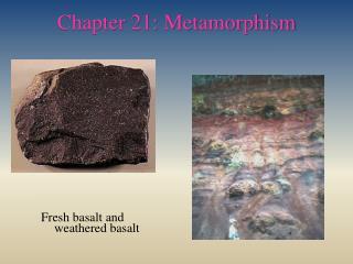 Chapter 21: Metamorphism