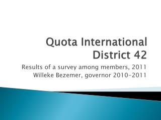Quota International District 42