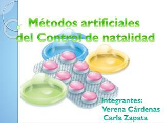 Métodos artificiales  del Control de natalidad