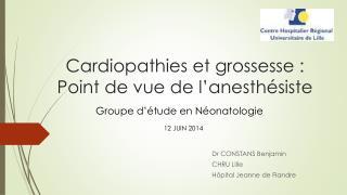 Cardiopathies et grossesse : Point de vue de l'anesthésiste