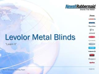Levolor Metal Blinds