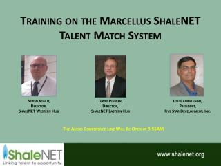 Training on the Marcellus ShaleNET Talent Match System