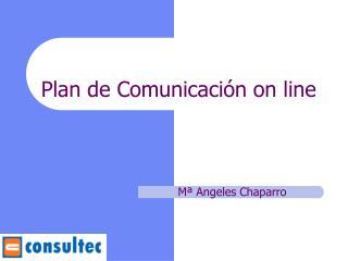 Plan de Comunicaci n on line