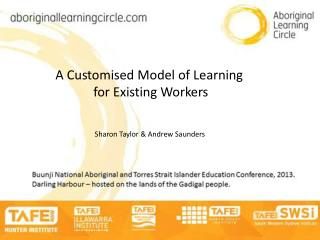 A Customised Model of Learning  for Existing Workers