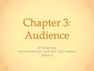 Chapter  3: Audience