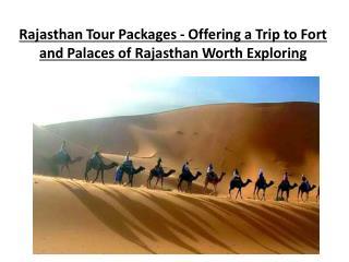 Rajasthan Tour Packages - Offering a Trip to Fort and Palace