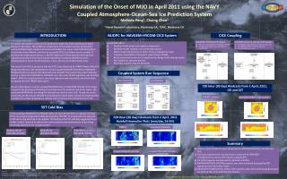 Simulation of the Onset of MJO in April 2011 using the  NAVY