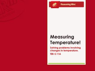 Measuring Temperature!